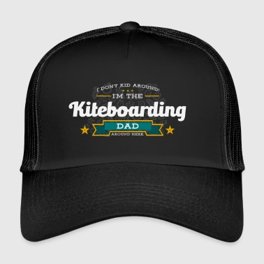 Kiteboarding Dad Funny Saying Tshirt Gift - Trucker Cap
