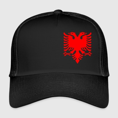 red double-head eagle Albanese Double Eagle - Trucker Cap