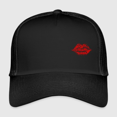 Cum mouth lips Mouth love red - Trucker Cap