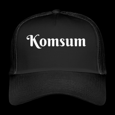 Konsum, originelles T-Shirt Design - Trucker Cap