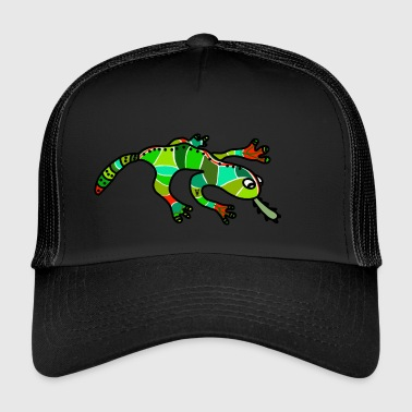 Salamander Gecko Lizard green red tropical - Trucker Cap