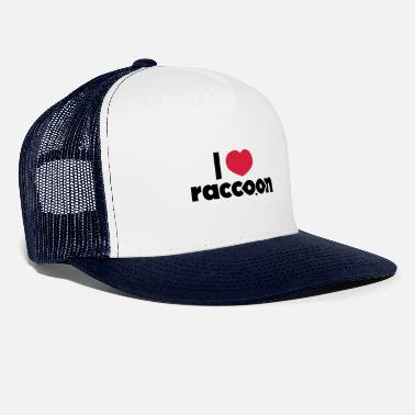 I love Raccoon - Casquette trucker