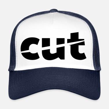 Corta el logo con corte oblicuo. - Gorra trucker 489748c2635