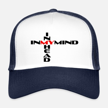 Red Cross In my mind cross black / red - Trucker Cap
