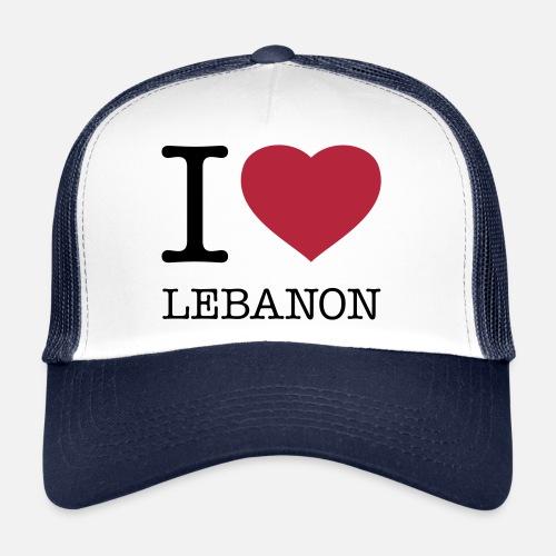 4c25b00d534 I LOVE LEBANON Trucker Cap