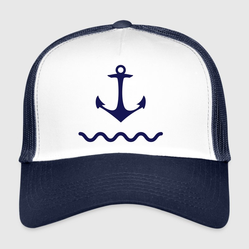 Anchor shaft water sea Kaptän port coastal ship - Trucker Cap