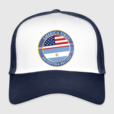 Bernie Sanders AMERICA FIRST ARGENTINA SECOND - Trucker Cap
