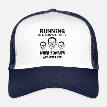 eefb6b22a4997 Śmieszne Bieganie Koszulka na Halloween dla biegaczy - bieganie - bieganie  - Czapka trucker