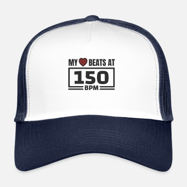 Bpm Il mio cuore batte a 150 BPM! Merce hardstyle - Trucker Cap