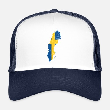 Sverige Sverige National Colors Homeland Gift 2 - Trucker Cap