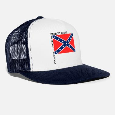 Flag Detroit Diesel Southern Rebel Flag - Trucker Cap