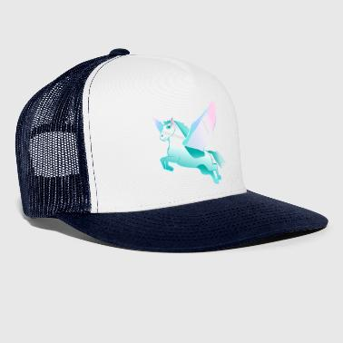 Pegasus Flying Horse różowy zielony tendencja Stylish - Trucker Cap