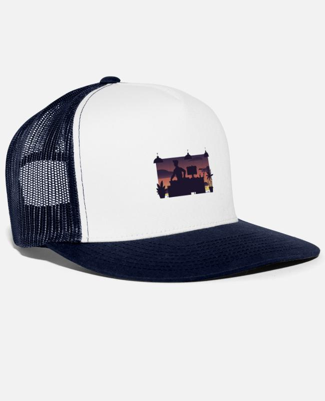 Lazy Caps & Hats - EASTWOOD CHILL - Trucker Cap white/navy