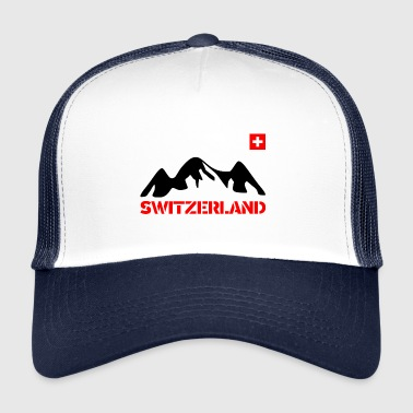 Graubünden Switzerland with Mountain/ Schweiz mit Bergen - Trucker Cap