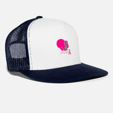 Ruban Cancer Strong Together Pink Pink Bow - Casquette trucker