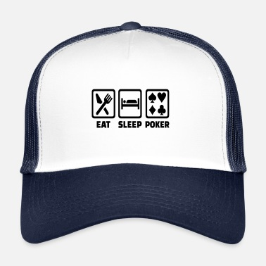Holdem Mangiare Sleep Poker Divertente Poison Texas Holdem - Cappello trucker