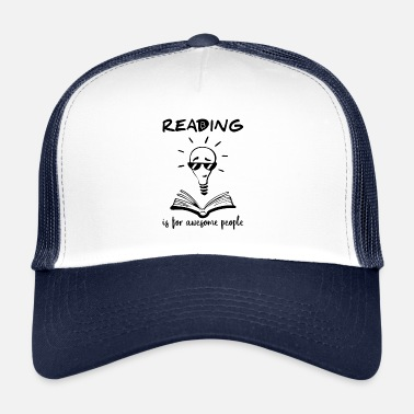 Black People Reading Is For Awesome People - Black - Trucker Cap