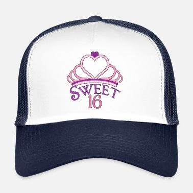 Sixteen Sweet Sixteen Birthday Princess - Trucker Cap