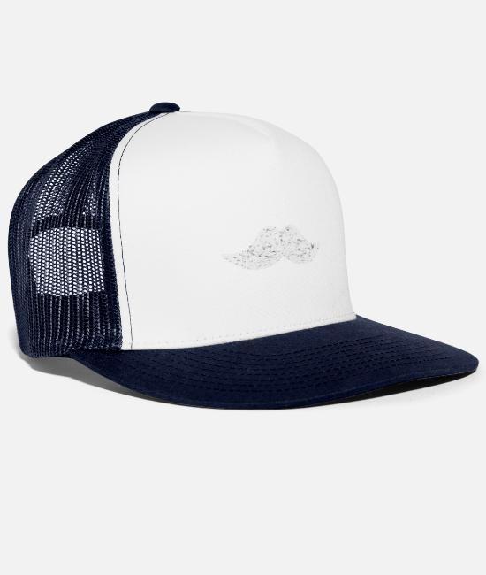 St Caps & Hats - mustache - Trucker Cap white/navy