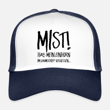 Mist Mist unicorn spaceship dreamer - Trucker Cap