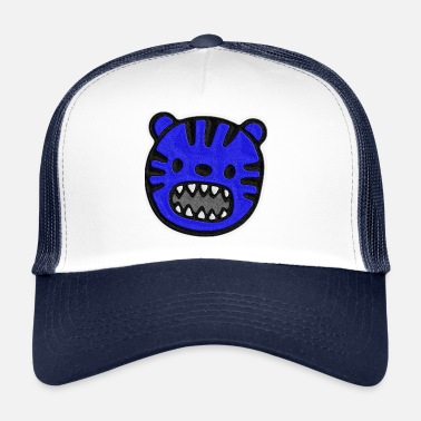 4ad761bb3a1 Stitch On Tiger blue stitched look - Trucker Cap