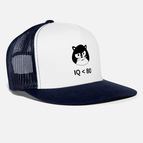 New Age Kasketter & huer - IQ <80 - Fødselsdag - Gaveidee - Trucker cap hvid/marineblå