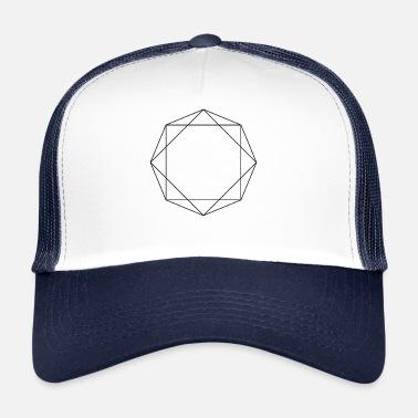 985194ee22dfc Símbolos Y Formas Símbolos formas regalo octagon - Gorra trucker