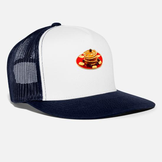 Canada Caps & Hats - Maple maple leaf syrup pancake - Trucker Cap white/navy