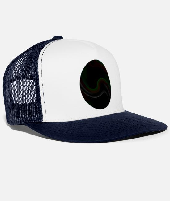 Circular Caps & Hats - Gradient oval neon - Trucker Cap white/navy