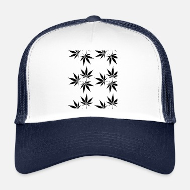 Blatt Cannabis Drugs Drogen Kiffen Blunt Joint Holland - Trucker Cap