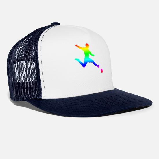 World Championship Caps & Hats - Football colorful sports club fan club spiler - Trucker Cap white/navy