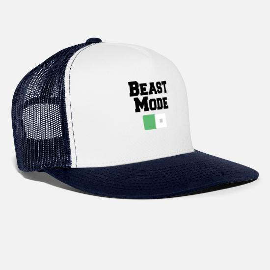 Beast Mode Caps & Hats - Beast Mode On Motivations Motiv White - Trucker Cap white/navy