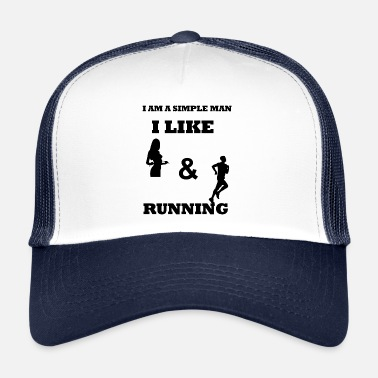 Spostare Funny Runner Text Design nero - Cappello trucker