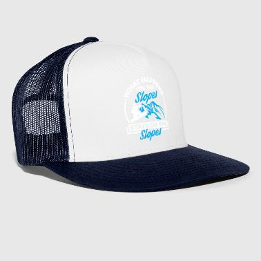 Funny Snowboard Snowboarding Shirt On The Slopes - Trucker Cap