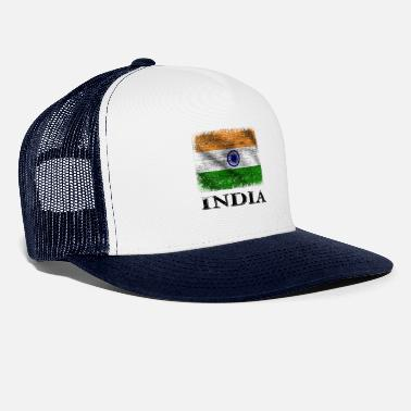 India Bandiera India, India - Cappello trucker