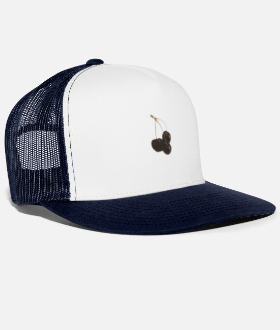 Bless You Caps & Hats - cherry - Trucker Cap white/navy