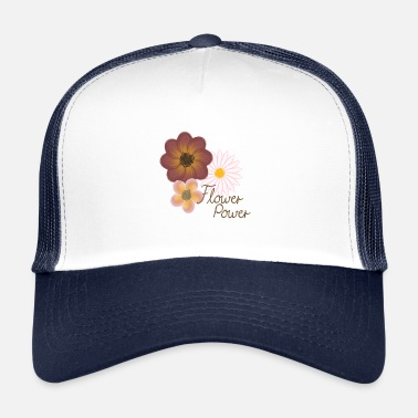 Flower-power Flower Power Flowers - Trucker Cap