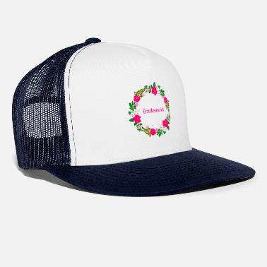flower wreath bridesmaid - Trucker Cap