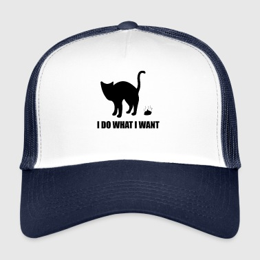 Enforcement Stubborn Dog Enforcing Gift Cat - Trucker Cap