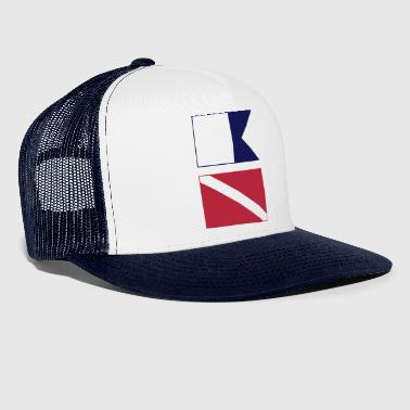 Diver Signal Flag for White Shirts - Trucker Cap