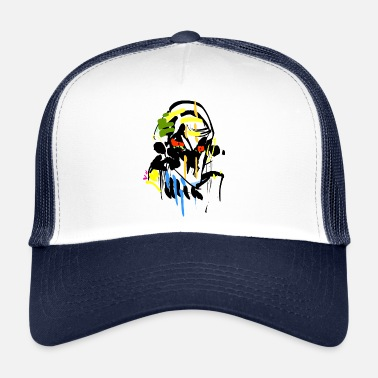 Thrash Horror stick figure gezicht - Trucker Cap
