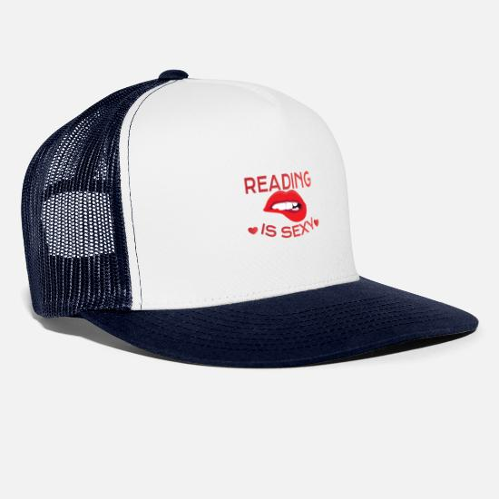 Read Caps & Hats - READING: Reading Is Sexy - Trucker Cap white/navy