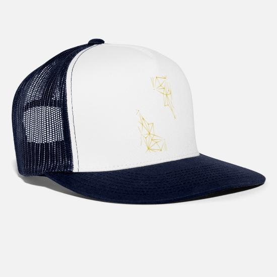 New Caps & Hats - Trend gold - Trucker Cap white/navy