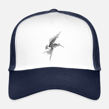 Graphic Art Mandala Bird Geometric Graphic Art Tattoo Bird - Trucker Cap