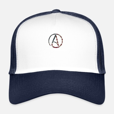 Athéisme Athéisme Logo Stars and Stripes USA - Trucker Cap