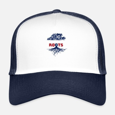 422af105 France roots Frenchman French gift - Trucker Cap
