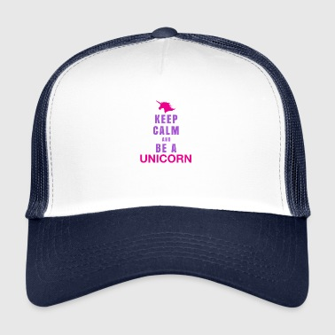 Hallo Einhorn Unicorn Keep Calm - Trucker Cap