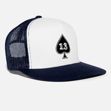 Ace Of Spades rocker design Ace of Spades with number 13 - Trucker Cap