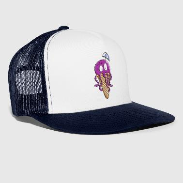Octopus als ijs - Octopus - octopus - Comic - Screen - Trucker Cap