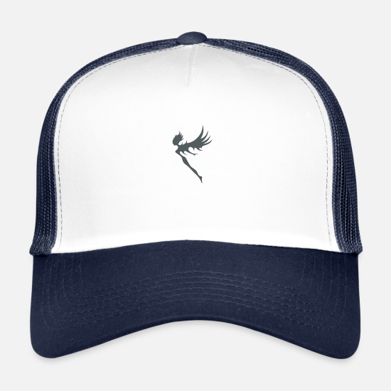 Magic Caps & Hats - fairy - Trucker Cap white/navy